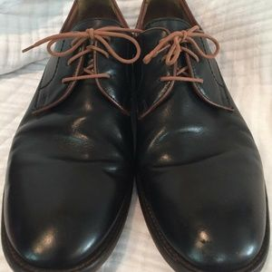 Johnston Murphy Leather Derby Dress Shoes Mens 12M